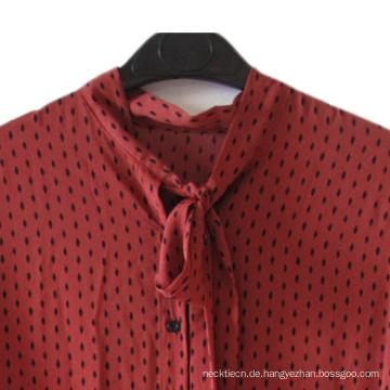 Elegant Neck Self Bow Tie Kundenspezifisches Mädchenkleid