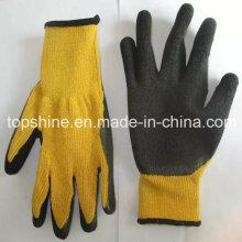 Рабочая защита Промышленная профессиональная фабрика с покрытием Полиэфирные латексные перчатки