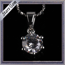 Простой и Мода стиль зубец Установка синтетических алмазов Кулон ювелирные изделия