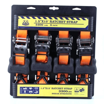 4-PK 38MM Ratchet Tie Down