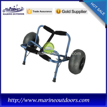 Aluminum canoe and kayak carrier with balloon wheels