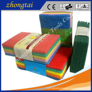 kitchen cleaning using sponge scouring pad