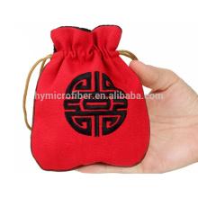 Логотип вышивка бархат ювелирные изделия мешок подарка изготовленный на заказ