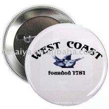 Black-White Pin bottom badge