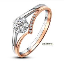 Forme a joyería del anillo de diamante sintético del diseño único especial