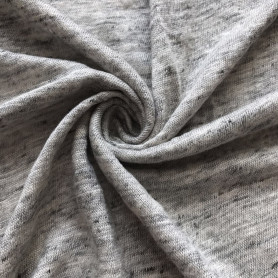 linen heather grey melange knitted jersey