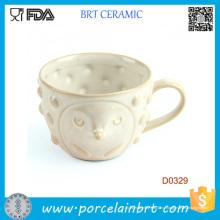 Белая Обложка с симпатичным лицом и маленькими точками Керамическая чашка