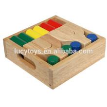 Hochwertige hölzerne Kind Bausteine Spielzeug