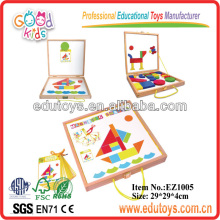 Magnetic Pattern Blocks With IQ Cards