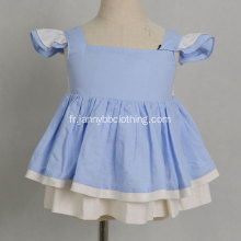 Girls icing pants outfit cap sleeveless blue dress