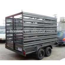Galvanized livestock cattle trailer