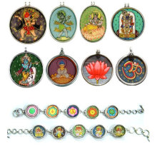 Indian Painting Pendant Hand Painted Jewlery