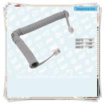 Boa Qualidade Cinza RJ11 telefone de telefone Modem bobina cabo de cabo de linha