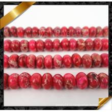 Красный император Gemstone Rondelle бисера, ювелирные каменные бусы (GB0110)