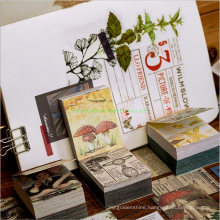 Adhesive Scrapbook for Hand Written Book Decoration