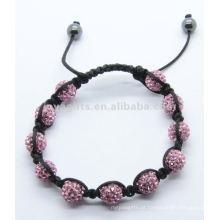 2012 Joya pulseira de cristal esticar bola