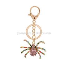 Metal Alloy Animal Spider Charm Keychain