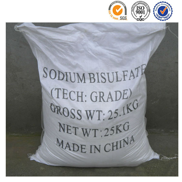 High purity anhydrous PH modifying agent sodium bisulfite