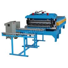 Rollo de azulejos de aluminio que forma la máquina