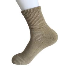 Media almohadilla Sorbtek Coolmax Diabetic Cuidado de la Salud Khaki trimestre calcetines (JMDB07)