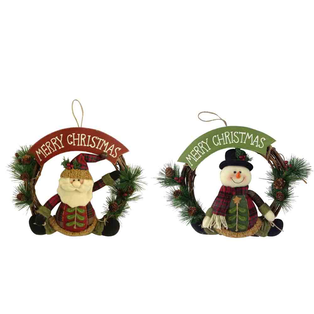 Christmas 3d Santa Shape Wreath