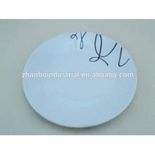 Prato de jantar de porcelana de 10 ou 12 polegadas, placas de jantar por atacado