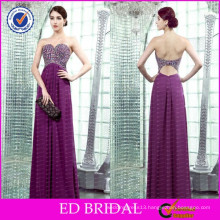 ED-YH2449 Simple Sweetheart Exclusive Design Beaded Evening Dresses 2015