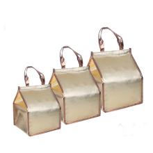 Cheap Custom Logo 4/6/8 Inch Non-woven Triangle Cake Insulation Bag Aluminum Foil Seafood Cooler Bag