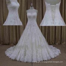 Реальный Образец Наиболее Популярный Дизайн Кружева Рукавов Свадебное Платье