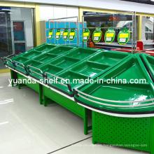 Estante de almacenamiento de exhibición de fruta y verdura acrílico supermercado