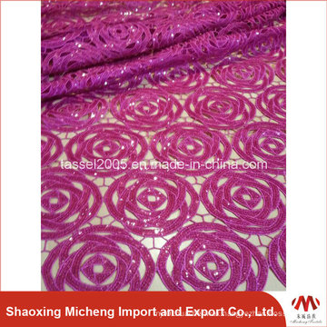 Edit Hot Selling African Chemical Lace for Wedding Dress/High Quality African Guipure Cord Lace