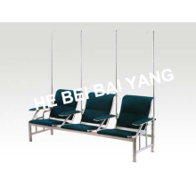 (D-12) Plastic-Sprayed Waiting Chair with Punched Steel Plate