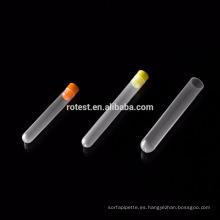 Consumibles de laboratorio de alta calidad de plástico PP 15 * 100 mm tubos de ensayo