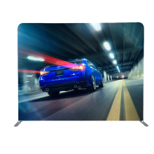 Retractable Tension compact image 10ft tension fabric backdrop display  Stand Banner