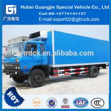 El camión congelado 4X2 Dongfeng enfrió el refrigerador de la carne del camión vehículo camión fresco que refresca el camión de la furgoneta