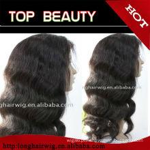 100% perucas onduladas longas brasileiras do cabelo humano deixam o transporte