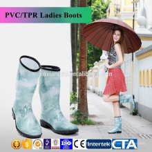 JX-993BE New Fashion rain boots Environmental latest design ladies fashionable rain boots