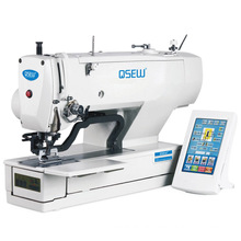 QS-1790 Electronic direct drive short thread end straight eyelet button holing industrial sewing machine