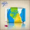 Produits sanitaires féminins minces serviettes hygiéniques