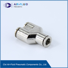 Air-Fluid Pneumatic Full Metal Y Type Connector