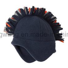 Invierno tejidos polares Fleece Hat / Cap con bola de tejer