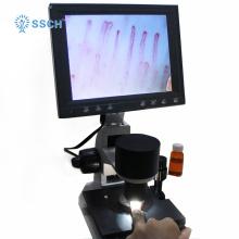 портативный светодиодный дисплей Тестер капилляроскопа для ногтей