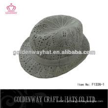 Chapéus de fedora crochet fedora de borda curta