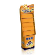 China Punto de venta de papel de cartón pantalla de suelo de papel para los alimentos saludables