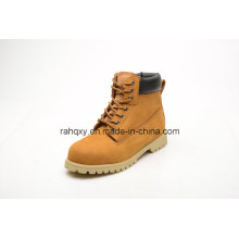 Nubuck Leather Rubber Cement Safety Shoes (LZ5003)