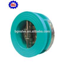 Disco de aço inoxidável da placa dupla da válvula de verificação da bolacha do ferro fundido no estoque