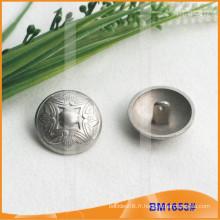 Bouton en alliage de zinc et bouton en métal et bouton de couture en métal BM1653