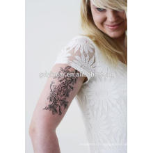 Autocollant de tatouage costomisé temporaire de haute qualité (tatouage de fleur)