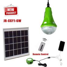 2015 nuevo CE brillante pequeño generador para camping con solar accionado, luz casera solar, kits de iluminación solar