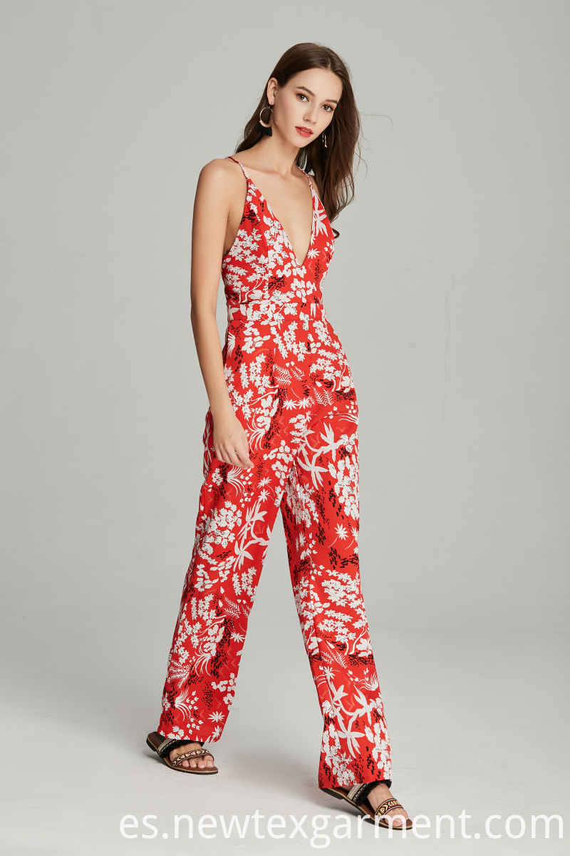 printed women's jumpsuit